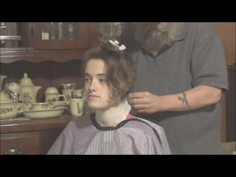 Aimee S Long Red Hair Cut Off Then Shaved Youtube