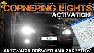 VCDS Cornering lights activation - Vcds aktywacja doświetlania zakrętów / Vcds