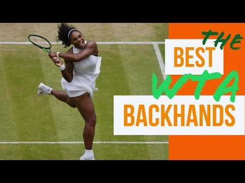 The best WTA backhands Kerber, Jankovic, Sharapova, Kuznetsova and Serena Williams
