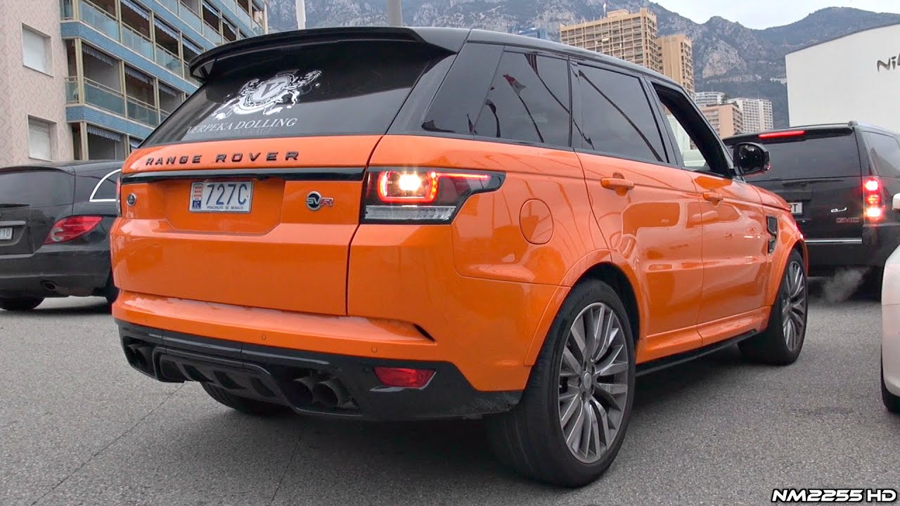 range rover sport svr exhaust sound start up revs acceleration [ 1280 x 720 Pixel ]