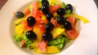 Рецепт салата  Салат с семгой и копченым яйцом Фейерверк
