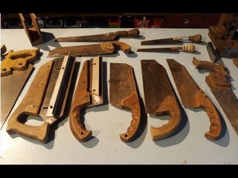 Самодельные пилы и ножовки в столярной мастерской