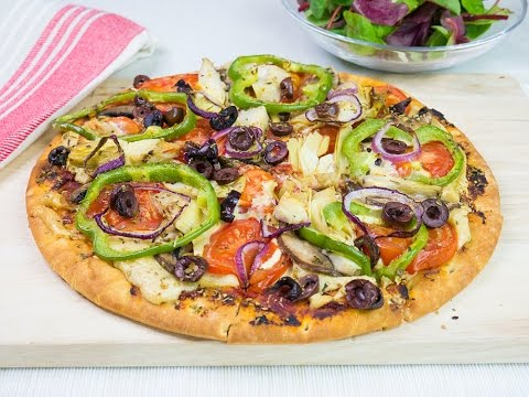 Vegan pizza with cashew cheese recipe