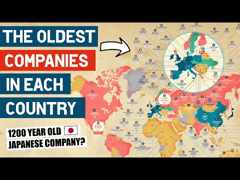 What Is Each Country's Oldest Company?