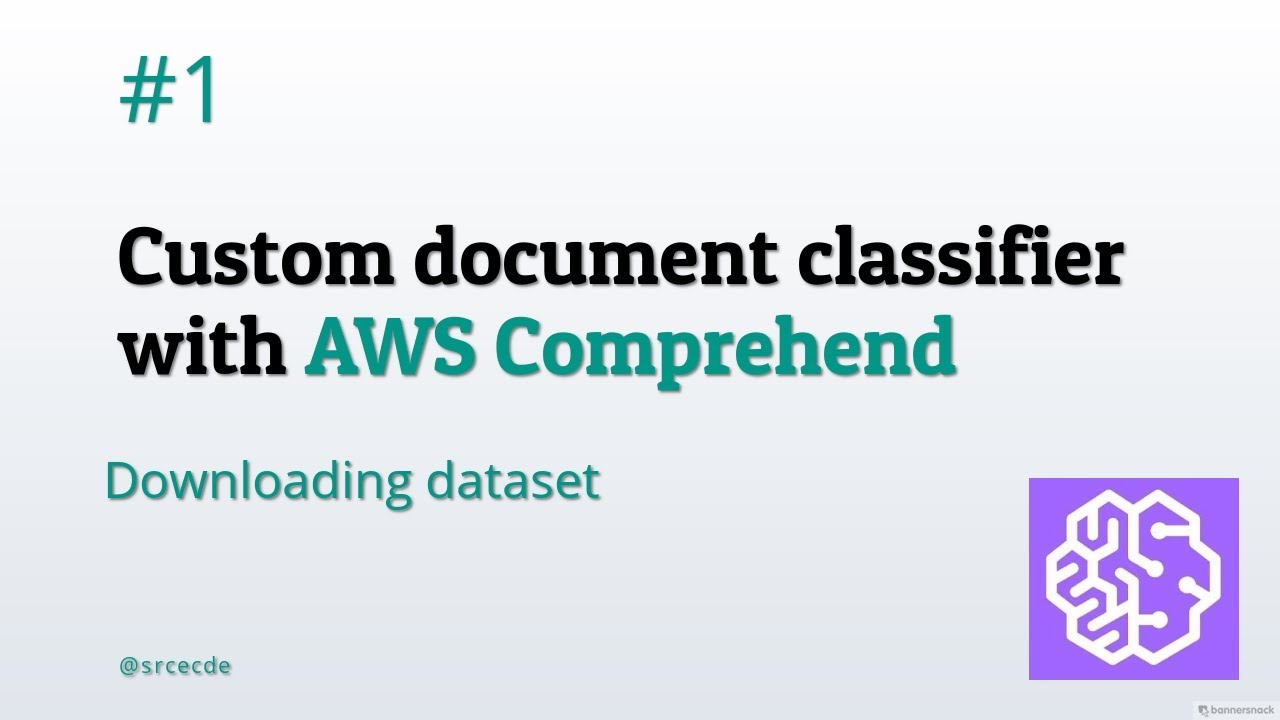 Downloading dataset - Custom document classifier with AWS Comprehend p 1