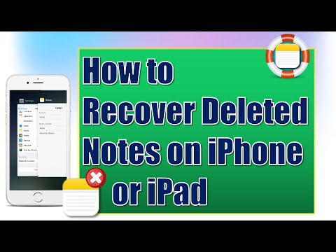 How to Recover Deleted Notes on iPhone or iPad for Free