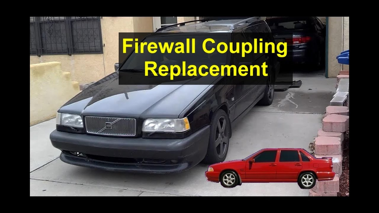 Firewall Heater Hose Coupling Removal And Installation Volvo 850