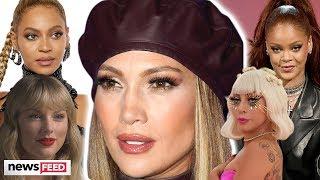 JLo Playfully THROWS SHADE At Rihanna, Beyonce, Taylor Swift & Lady Gaga!