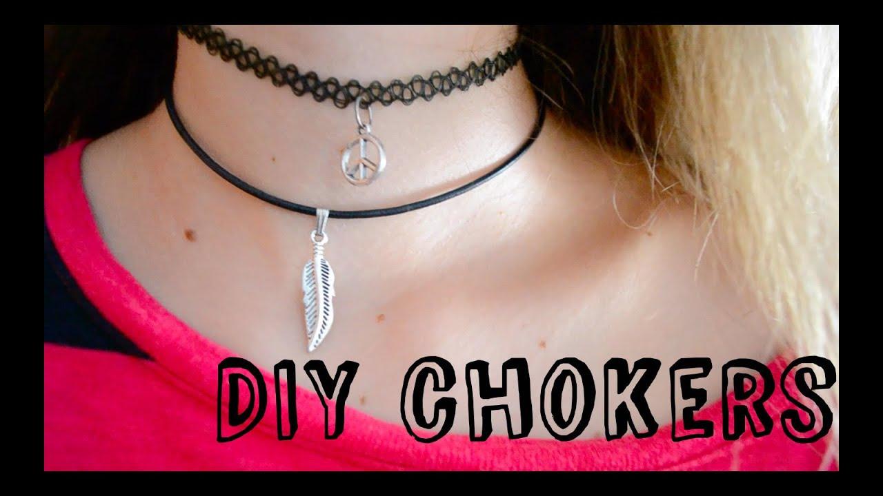 Collar y Gargantilla DIY muy fácil!! // DIY easy choker and tattoo choker