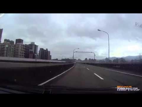 ORIGINAL Dashcam footage captures Taiwan plane crash Taipei