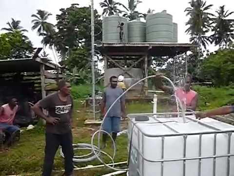 Fresh drinking water for village on Island of Malaita Solom