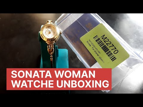 Sonata Analog Champagne Dial Women's Watch Unboxing & Look