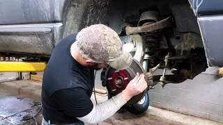 hqdefault Dodge Ram 1500 Changing Out Ball Joints Shocks And Tie