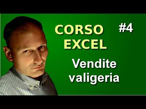 Corso di Excel - Lezione 4 - Vendite valigeria