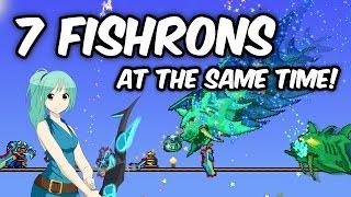 Terraria FISHING GLITCH! | 7 Expert Duke Fishrons AT THE SAME TIME! | 1.3 glitch