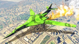 BIGGEST GTA 5 PLANE Vs. LOS SANTOS! (New Plane DLC)