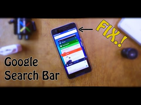 [FIX]Google Search Bar Gone From The Recent Apps Screen?.! (2016)!