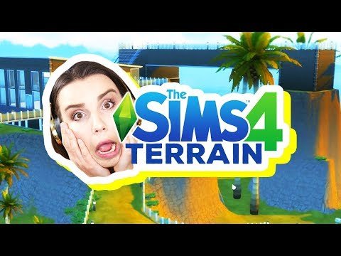 Building with the *NEW* Terrain Tool! [The Sims 4] thumbnail