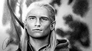 "Legolas Speed Drawing Orlando Bloom ""The Hobbit"""