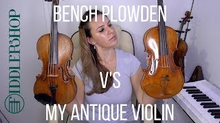 A comparison of the holstein bench plowden & my own antique violin.you can buy violin here: http://bit.ly/2nzeqxvobviously is not...