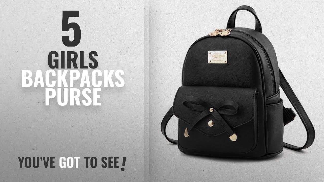 Girls Backpacks Purse  2018 Best Sellers   Cute Mini Leather ... 9a47066735e12