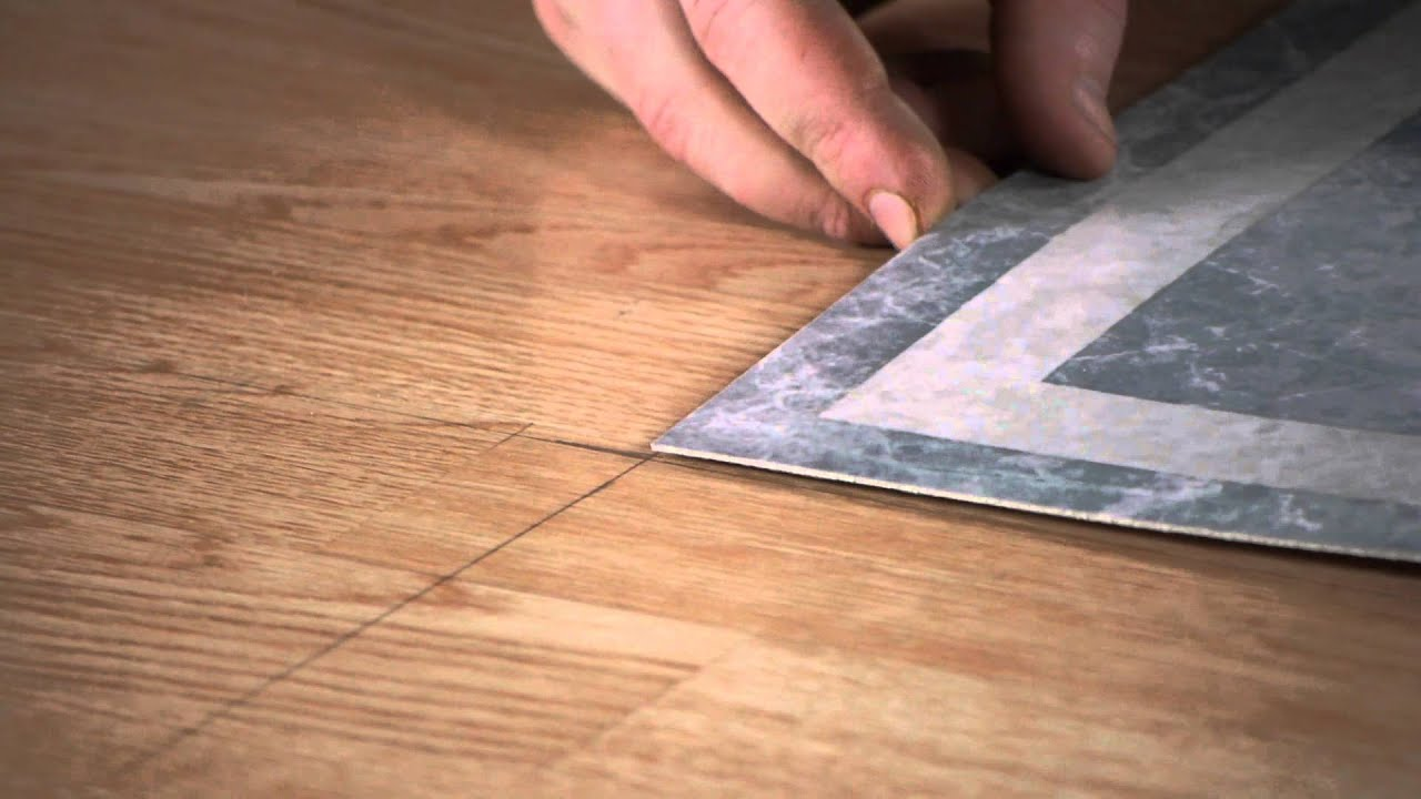 how to tile a tabletop with selfstick tiles flooring repairs youtube - Peel And Stick Flooring