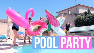 COMMENT ORGANISER UNE POOL PARTY ?