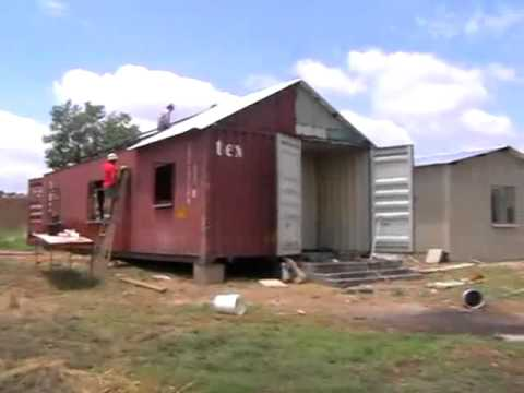 2 40 foot container house youtube for 3 40 ft container home