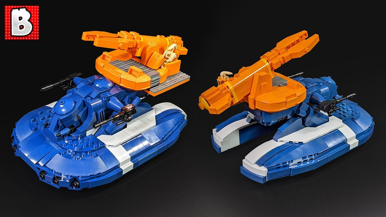 Striking LEGO Defoliator Tank! Custom Star Wars Clone Wars Build