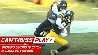 AB Hauls in Clutch TD Pass from Big Ben on 4th Down!   Can't-Miss Play   NFL Divisional Round HLs
