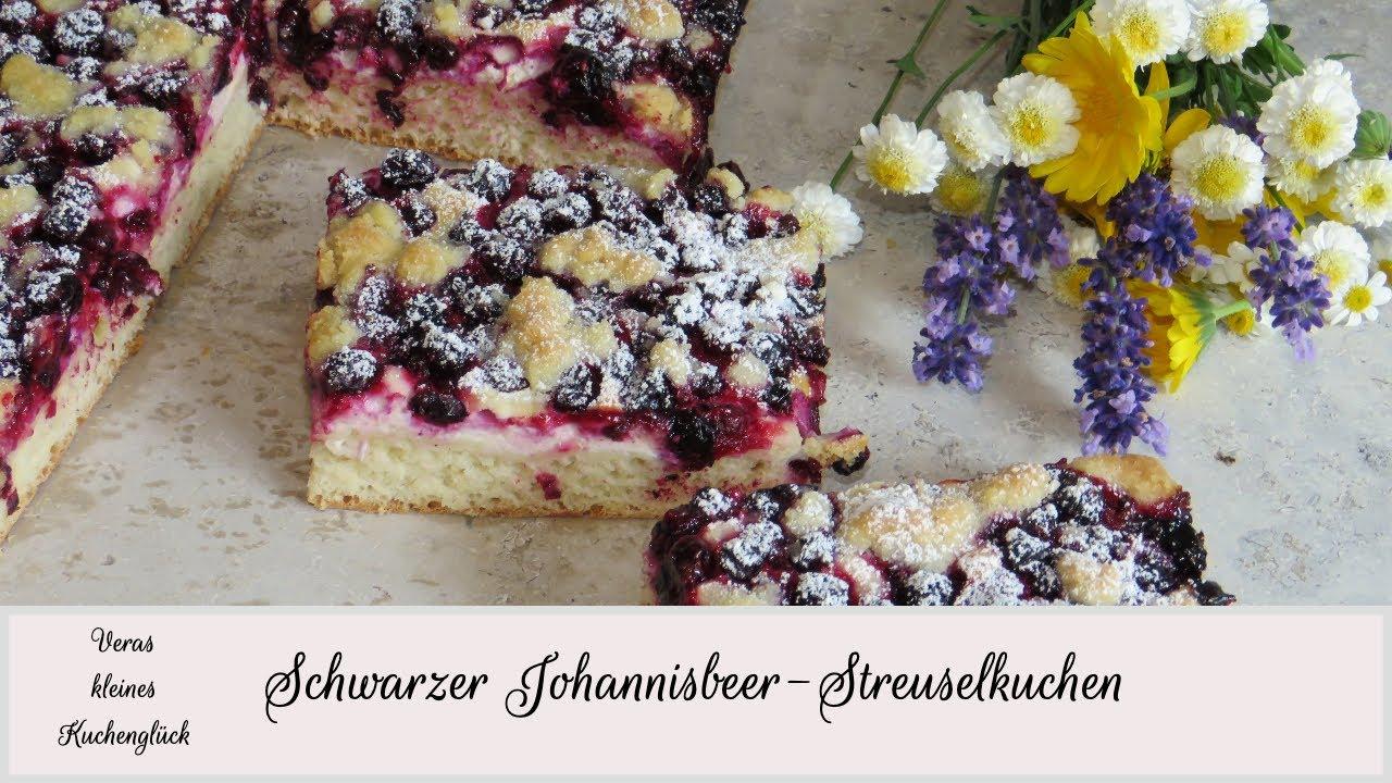 Schwarzer Johannisbeer Streuselkuchen Blackcurrant Crumble Cake