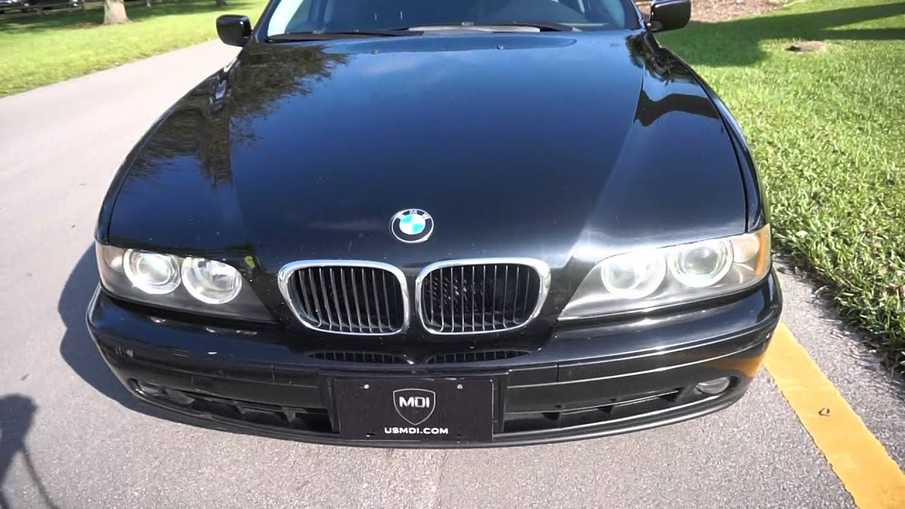 2003 BMW e39 525i Sport Black Leather Clean Car For Sale Florida