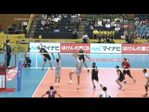 Benjamin Glue -  New Zealand vs Qatar Volleyball Highlights 2013