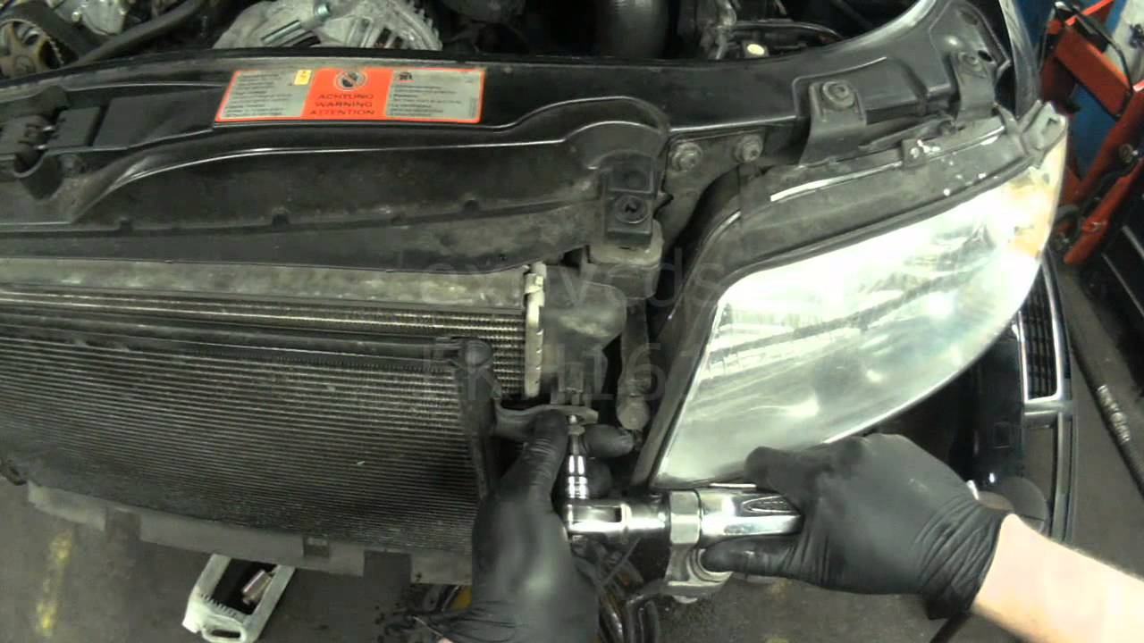 Audi B6: AMB 1.8T Radiator Removal - YouTube