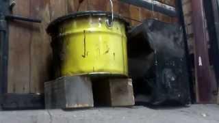 Hatsan 125 и газовая пружина (185атм) стрельба по ведрам в гараже