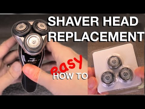PHILIPS NORELCO SHAVER HEAD REPLACEMENT - HOW TO 4K