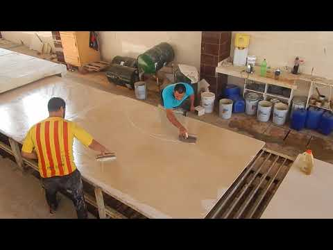 Resin Line for marble slabs
