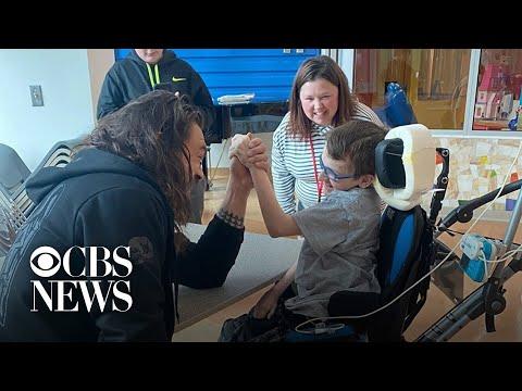 Damon & Cory - Jason Momoa visits children's hospital
