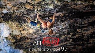 aura Rogora climbing Ali Hulk Sit Extension Total (9b)
