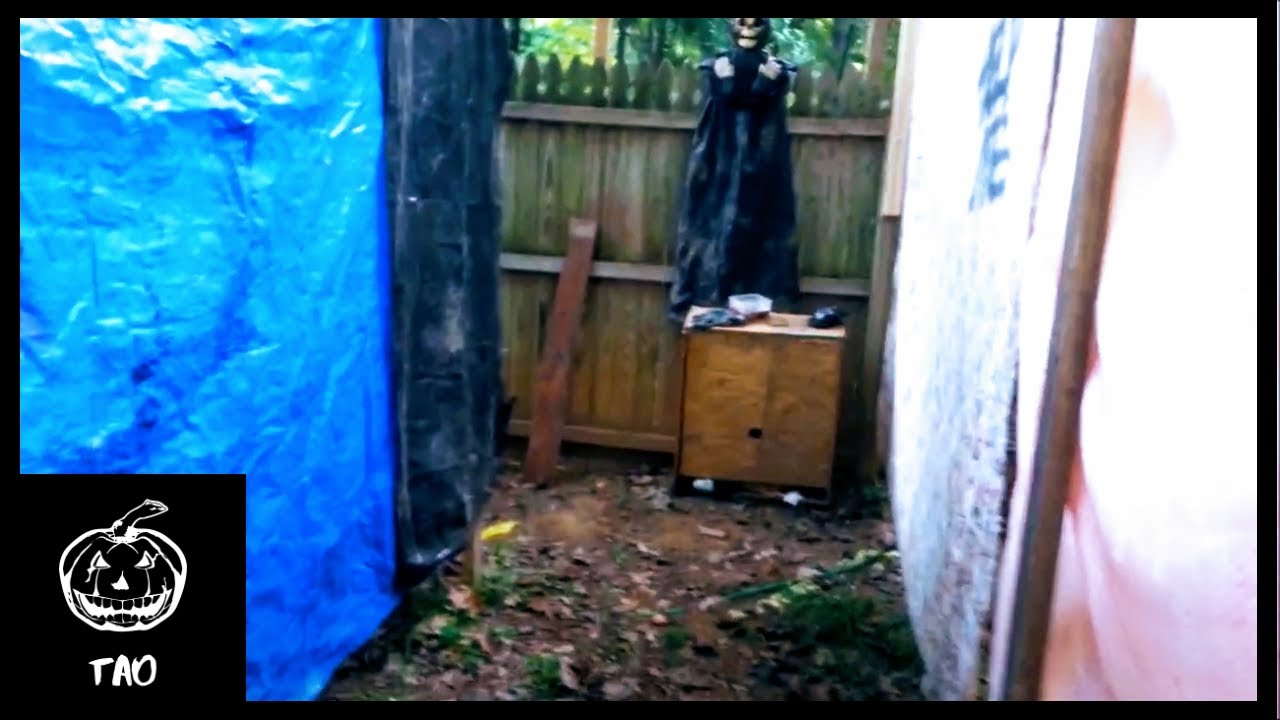 2017 backyard haunted house walkthrough 1 youtube