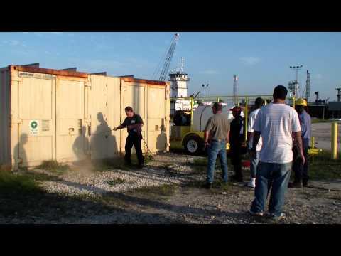 7000 PSI pressure washer training day Port Everglades Fl. Dan Swede 800-666-1992 sales@hcsclean.com