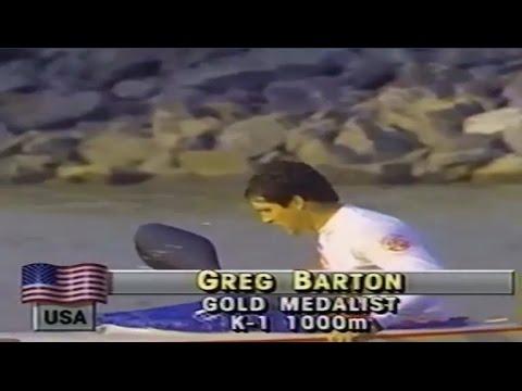 1988 Seoul Olympics Canoeing (U.S.A) Kayak Greg Barton won K-1 1000 m Final (16:9)