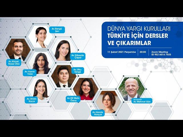 Canlı Yayın: Dünya Yargı Kurulları: Türkiye için Dersler ve Çıkarımlar