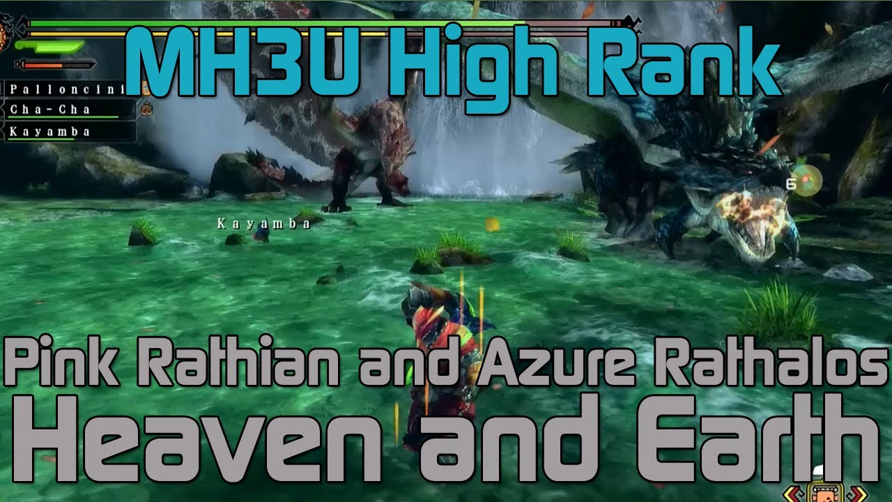mh3u monster hunter 3 ultimate high rank azure