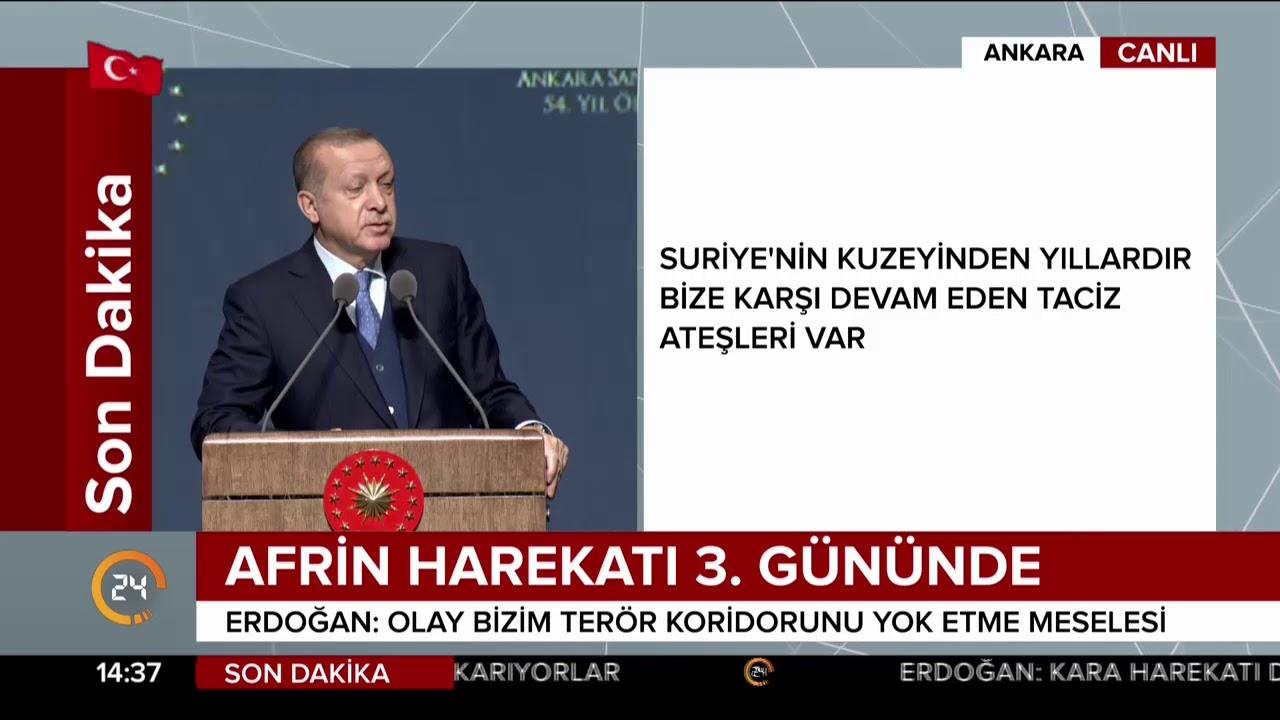 Cumhurbaşkanı Erdoğan: Afrin meselesinden geri adım atmak yok