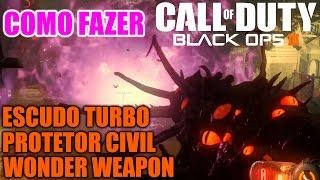 Como Fazer Wonder Weapon, Escudo e Protetor Civil - Shadows Of Evil - Easter Egg - Black Ops 3