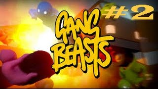 GANG BEASTS PART 2 YOU MAY NOT ENTER MY FORTRESS, I AM THE STAIR KING!