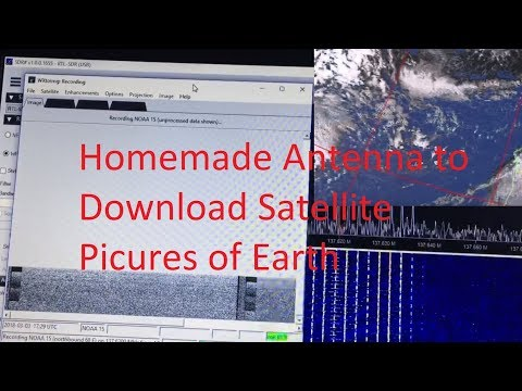 How to Download NOAA Weather Satellite Live Earth Images - using SDR usb stick and Homemade Antenna
