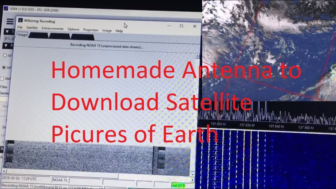 Download How to Download NOAA Weather Satellite Live Earth Images - using SDR usb stick and Homemade Antenna