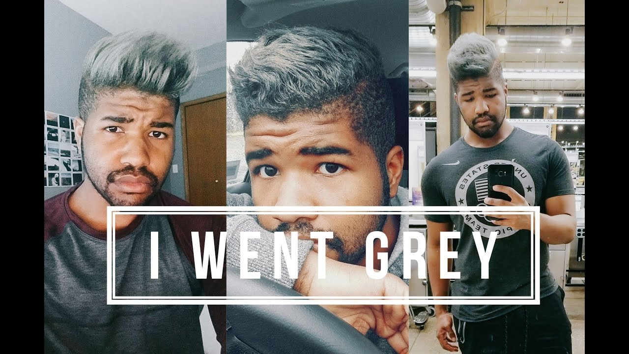 I Went Grey Relaxed Hair For Black Men Youtube